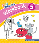 Jolly Phonics Workbook 5: In Print Letters (American English Edition) Cover Image