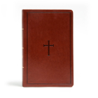 CSB Large Print Personal Size Reference Bible, Brown LeatherTouch Cover Image
