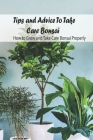 Tips and Advice To Take Care Bonsai: How to Grow and Take Care Bonsai Properly: The Ultimate Bonsai Handbook Cover Image