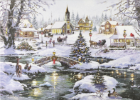 Village Lights Deluxe Boxed Holiday Cards Cover Image