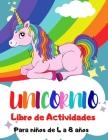Unicornio Libro de Actividades para Niños de 4 a 8 Años Cover Image