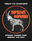 Tierisches Mandala - Malbuch für Erwachsene - Antilope, Hamster, Hase, Alligator und mehr Cover Image