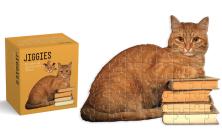 Cat Reader Jiggie: Die-Cut 81-Piece Jigsaw Puzzle Cover Image