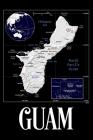 Guam: Map of Guam Notebook Cover Image