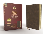 Niv, Life Application Study Bible, Third Edition, Bonded Leather, Brown, Red Letter Edition Cover Image