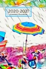 Beach Chair Umbrella Dated Calendar Planner 2 years To-Do Lists, Tasks, Notes Appointments: Small Cute Pocket/Purse Size at-A-Glance Schedule Notebook Cover Image
