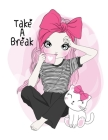 Take a Break Sketchbook- Notebook for Drawing, Writing, Painting, Sketching, Doodling- 200 Pages, 8.5x11 High Premium White Paper Cover Image