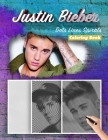 Justin Bieber Dots Lines Spirals Coloring Book: New Kind Of Stress Relief Coloring Book For Kids And Adults Cover Image