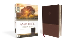Amplified Study Bible, Imitation Leather, Brown Cover Image