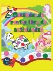Marcador de puntos libro de actividades: Animales lindos Unicornios Hadas y Números Cover Image