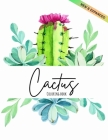 Cactus Coloring Book: Excellent Stress Relieving Coloring Book for Cactus Lovers Succulents Coloring Designs for Relaxation (Volume 2) Cover Image