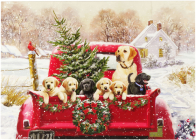 Bringing Home the Tree Deluxe Boxed Holiday Cards Cover Image
