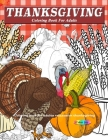 Thanksgiving coloring books for adults relaxation Cover Image