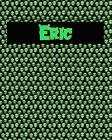 120 Page Handwriting Practice Book with Green Alien Cover Eric: Primary Grades Handwriting Book Cover Image