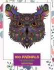 Coloring Books for Adults Easy Patterns - 100 Animals Cover Image