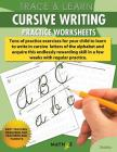 Trace & Learn - Cursive Writing: Practice Worksheets Cover Image