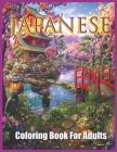 Japanese Coloring Book: Japanese Style Coloring Book For Adults Cover Image