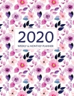 2020 Planner Weekly and Monthly: 12 Months Calendar from January 2020 to December 2020 2 Year Daily Weekly Monthly Calendar Planner, To Do List Academ Cover Image