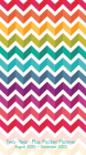 2021 Chevron Rainbow Two-Year-Plus Pocket Planner Cover Image