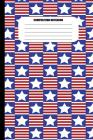 Composition Notebook: Red & White Stripes, White Star on Blue Checkerboard (100 Pages, College Ruled) Cover Image