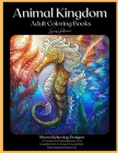 Animal Kingdom Adult Coloring Books Cover Image
