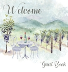 Vineyard themed Guest Book, vacation home, comments book, holiday home, visitor book to sign Cover Image