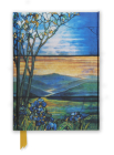 Tiffany Leaded Landscape with Magnolia Tree (Foiled Journal) (Flame Tree Notebooks #8) Cover Image