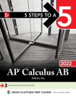 5 Steps to a 5: AP Calculus AB 2022 Cover Image