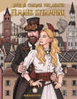Livre de coloriage pour adultes Femmes steampunk Cover Image