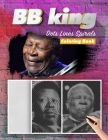 BB KING Dots Lines Spirals Coloring Book: New Kind Of Stress Relief Coloring Book For Kids And Adults Cover Image