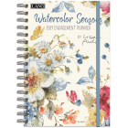 Watercolor Seasons 2021 Spiral Engagement Planner Cover Image