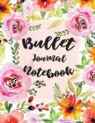 Bullet Journal Notebook: Dot Grid Journal-108 Dot Grid Pages, 8.5x11, Flower Cover Designed Cover Image