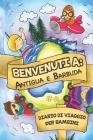 Benvenuti A Antigua e Barbuda Diario Di Viaggio Per Bambini: 6x9 Diario di viaggio e di appunti per bambini I Completa e disegna I Con suggerimenti I Cover Image