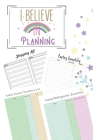 I Believe In Planning: Household Inventory Grocery Shopping Checklist For Freezer, Refrigerator And Pantry Organizational Log Book With Notes Cover Image