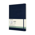 Moleskine 2022  Weekly Planner, 12M, Extra Large, Sapphire Blue, Hard Cover (7.5 x 10) Cover Image