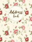 Address Book: Vintage Floral - For Organize and Record a Contact, Name, Birthday, Email, Mobile, Social Media Cover Image