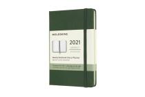 Moleskine 2021 Weekly Planner, 12M, Pocket, Myrtle Green, Hard Cover (3.5 x 5.5) Cover Image