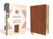 Nrsv, Single-Column Reference Bible, Leathersoft, Brown, Comfort Print Cover Image