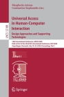 Universal Access in Human-Computer Interaction. Design Approaches and Supporting Technologies: 14th International Conference, Uahci 2020, Held as Part Cover Image