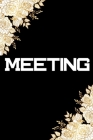Meeting: Notebook for Meeting event write your notes business job management Cover Image