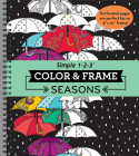 Color & Frame - Seasons (Adult Coloring Book) Cover Image