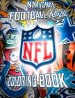 National Football League NFL Coloring Book: 43 Illustrations (Team Logos and Famous Players) Cover Image