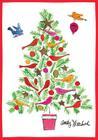 Andy Warhol Christmas Tree Boxed Holiday Half Notecards Cover Image
