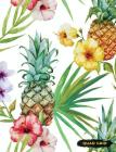 Quad Grid: Pineapple Composition Notebook Graph Ruled Paper, 4x4 Squared for Math & Science Graphing Cover Image