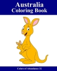 Australia Coloring Book: 25 coloring images with Australian animals and motifs for children and beginners Cover Image