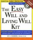 The Easy Will and Living Will Kit [With CDROM] Cover Image