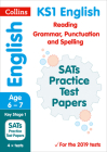 Collins KS1 Revision and Practice – KS1 English Reading, Grammar, Punctuation and Spelling SATs Practice Test Papers: 2019 Cover Image