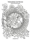 Mandalas de flores libro para colorear para adultos Cover Image