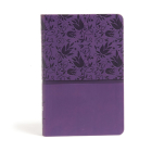 CSB Large Print Personal Size Reference Bible, Purple LeatherTouch Cover Image
