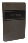 KJV, Deluxe Gift Bible, Imitation Leather, Gray, Red Letter Edition Cover Image